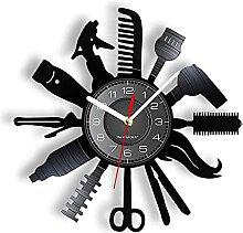 Salon de Coiffure Horloge Murale décorative