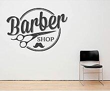 Salon de coiffure mur fenêtre décor