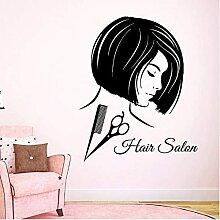 Salon De Coiffure Sticker Fille Coiffure Salon De