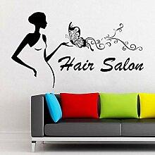 Salon de coiffure vinyle stickers muraux lettrage