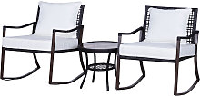 Salon de jardin 2 personnes rocking chair style
