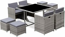 Salon de jardin 4-8 places – Vabo – table