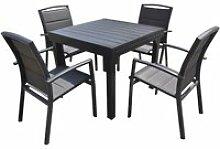 Salon de jardin aluminium 4/8 places 600210