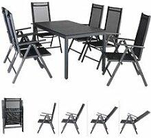 Salon de Jardin Aluminium Anthracite Bern 1 Table