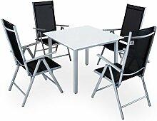 Salon de jardin aluminium »Bern« 1 table 4