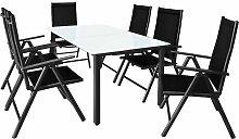 Salon de jardin aluminium »Bern« 1 table 6
