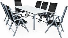 Salon de jardin aluminium »Bern« 1 table 8