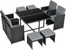 Salon de jardin de 9 pièces ensemble table 4