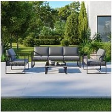 Salon de jardin design aluminium 5 places couleur