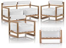 Salon de jardin design et table basse blanc