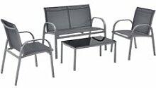 Salon de jardin design table basse plateau en