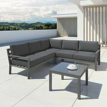 Salon de jardin en aluminium d'angle design