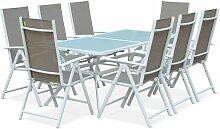 Salon de jardin en aluminium table 8 places