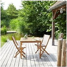 Salon de jardin en bois d'acacia 2 places