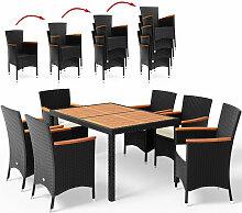 Salon de jardin en polyrotin Verona 6+1 table et