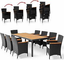 Salon de jardin en polyrotin Verona 8+1 table et