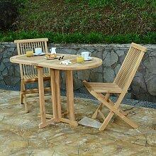 Salon de jardin en teck Ecograde Tahiti, 2 places