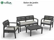Salon de jardin ensemble java s3 + 2f2 + 1tb