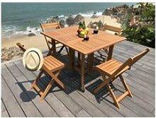 Salon de jardin - ensemble table chaise fauteuil