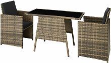 Salon de jardin LAUSANNE 2 places - mobilier de