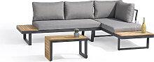 Salon de jardin modulable 4 places en bois