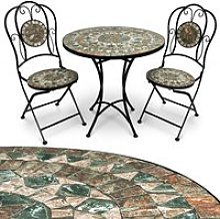 Salon de jardin mosaique Malaga ensemble table et