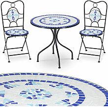 Salon de jardin NEPTUNE en mosaique - 1 table et 2