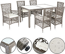 Salon de jardin polyrotin 1 table 6 chaises