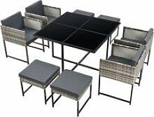 Salon de jardin pour 8 personnes ensemble table 4