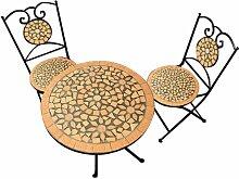 Salon de Jardin Roma - 1 Table & 2 chaises Fer