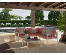Salon de jardin samara en aluminium 5 places