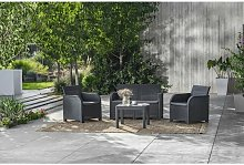 Salon de jardin SanRemo 4 places et table basse -