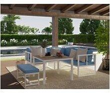 Salon de jardin santiago en aluminium 5 places