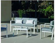Salon de jardin sofa azores-8 finition blanc