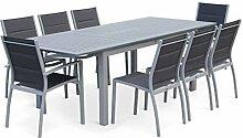 Salon de Jardin Table Extensible - Chicago Gris -