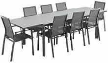 Salon de jardin table extensible - washington gris