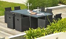 Salon jardin encastrable et modulable 8 places