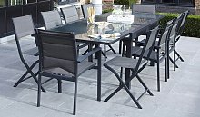 SALON JARDIN EXTENSIBLE GRIS ANTHRACITE 8
