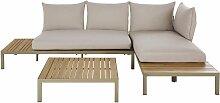 Salon modulable de jardin 4/6 places en acacia