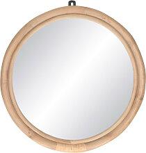 Sam - Miroir en rotin ø47cm