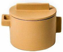 Sambonet Marmite en céramique jaune terra.Cotto