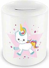 Samunshi® Tirelire pour enfant avec motif coloré