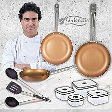 San Ignacio Cuivre Plus Set 3 casseroles + 4