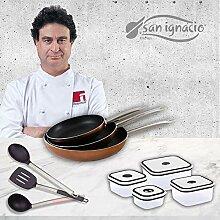 San Ignacio PK1413 Professional Chef Copper Set de