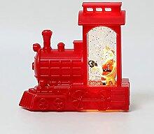Santa Claus Train Petite lampe à huile Copper