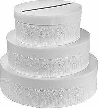 SANTEX 5546-1, Tirelire Gâteau blanche