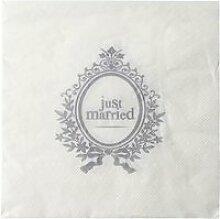 SANTEX Serviette de Table Married Blanc
