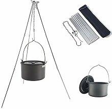 Santiling Trépied Portable Griller avec Pot