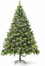 Sapin de Noël artificiel aspect enneigé avec