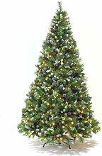 Sapin de Noël artificiel avec guirlande